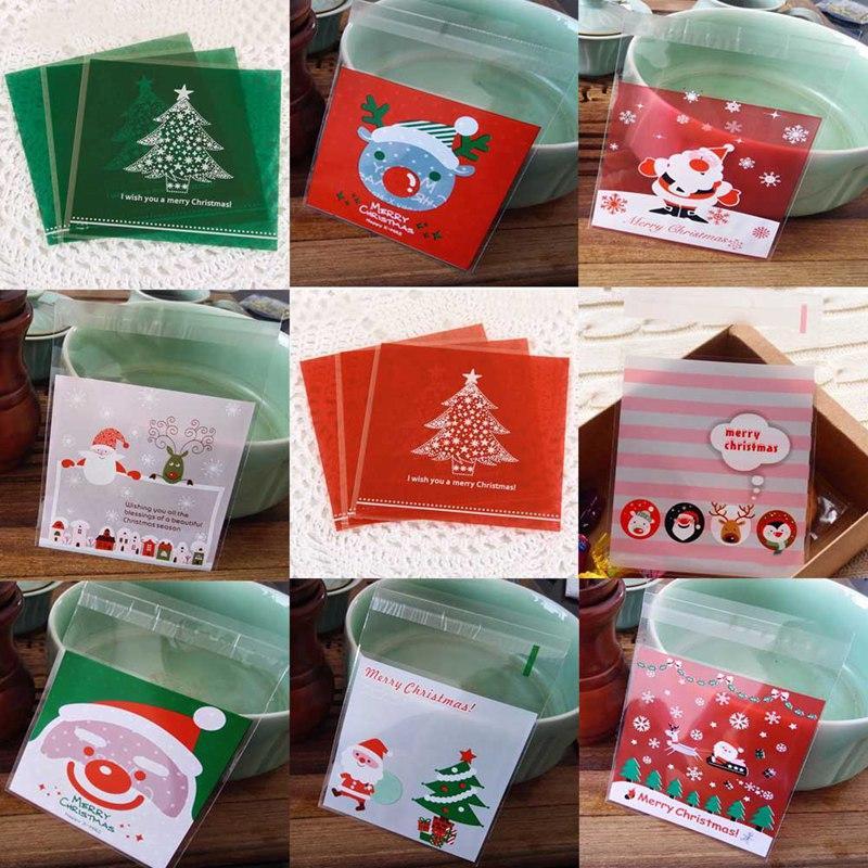 Großhandel 100 Stück Weihnachten Plastiktüte Cute Cartoon Geschenke ...