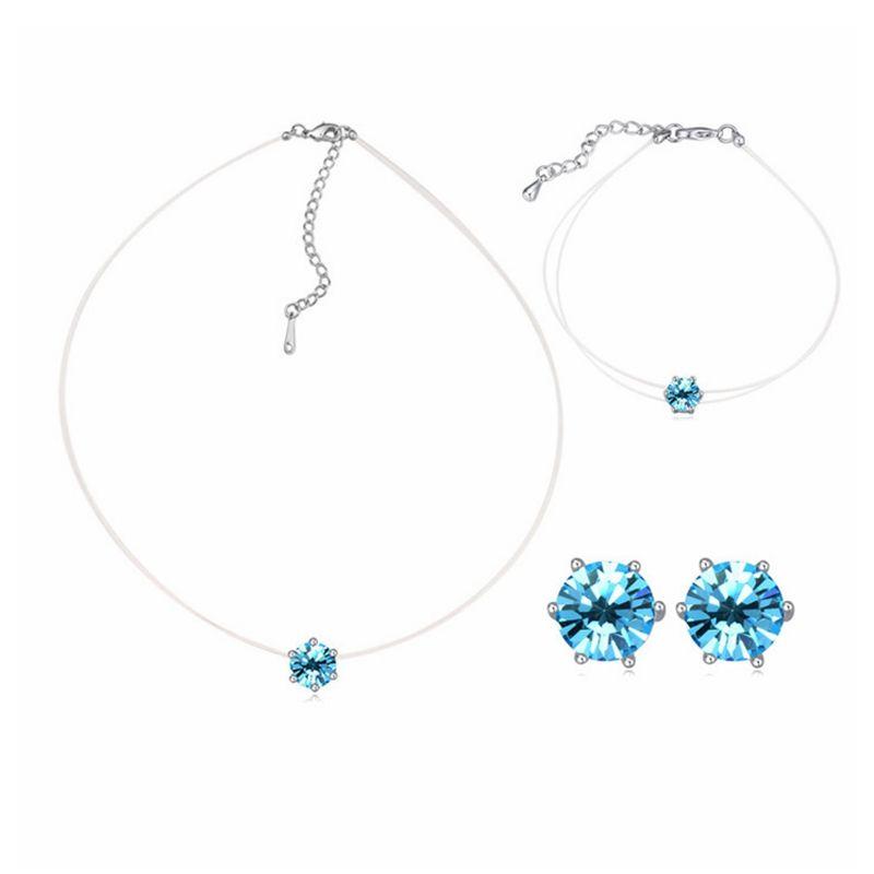868d7892bfe5 Collar de cristal austriaco. Conjunto de aretes y cristales de SWAROVSKI.  Conjunto de joyas de boda de moda.