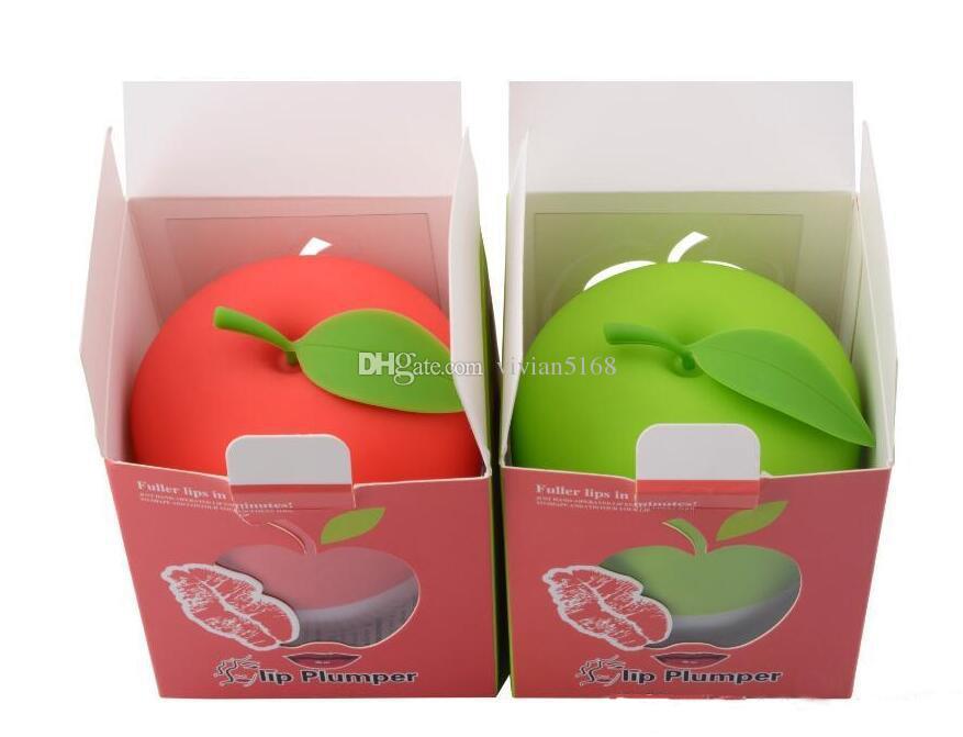 Büyük Dudak Dolgunlaştırıcı Tam Dudak Artırıcı Dudaklar Dolgun Yeşil Çift veya Kırmızı Tek Lobbed Tam Dudak Pompası Güzellik Dolgunlaştırıcı Aracı labios carnosos Hediye