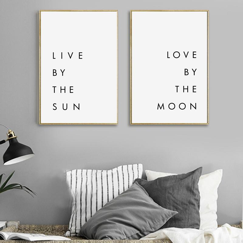 2019 Bedroom Wall Art Minimalist Canvas Print Poster Live