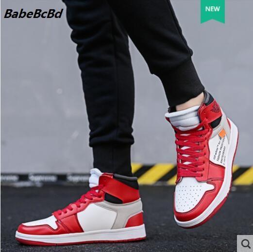 2019 nuevo estilo de otoño de los hombres zapatos de moda versión coreana de la tendencia de calzado deportivo casual para hombres