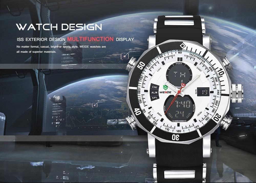 8936537623b0 Compre WEIDE Reloj Digital De Cuarzo Hombres Relojes Deportivos Impermeable  Alarma Militar Cronómetro Zonas De Tiempo Dual Marca Nuevos Relogios  Masculinos ...