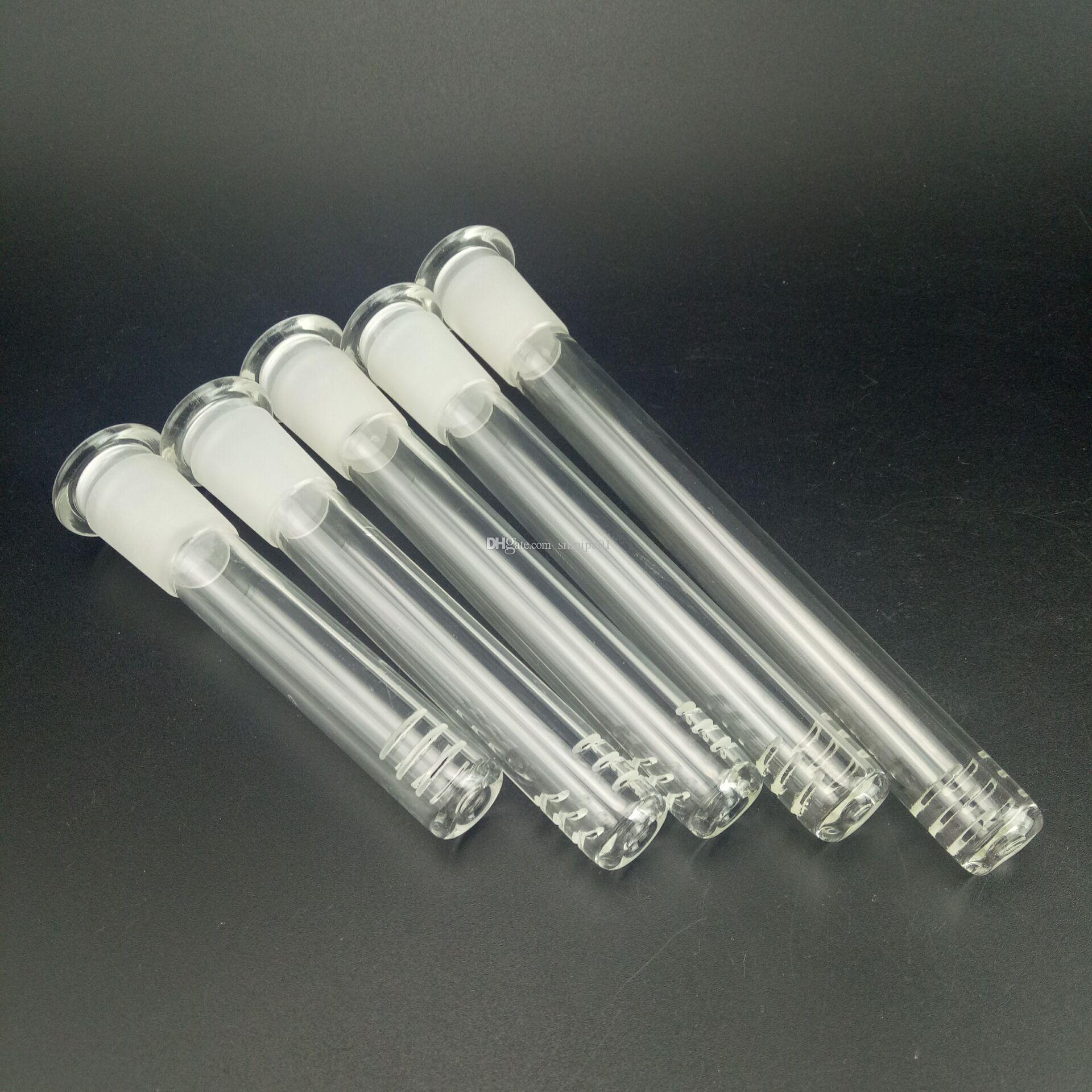 Gli accessori in vetro bong Cinque lunghezze sono opzionali e semplici. Gli accessori del tubo di acqua di vetro sono adatti l'impianto di perforazione del tubo di vetro del narghilé