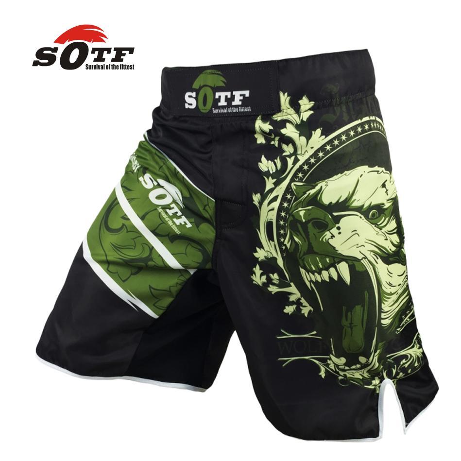 Sports & Entertainment Boxing Sotf Mma Pattern Sport Training Wear Breathable Mma Boxing Clothing Muay Thai Kickboxing Shorts Muay Thai Gym Clothing