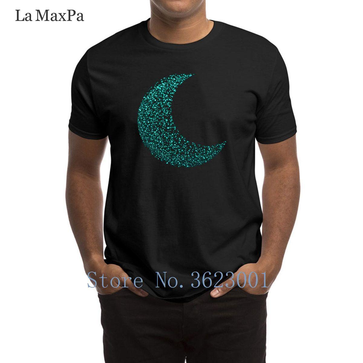 0b056ece89b12 Custom Natural T-Shirt Man Outer Space Glowing Moon Men T Shirt Trendy  Unisex Tee Shirt For Men Better Plus Size Tshirt Man