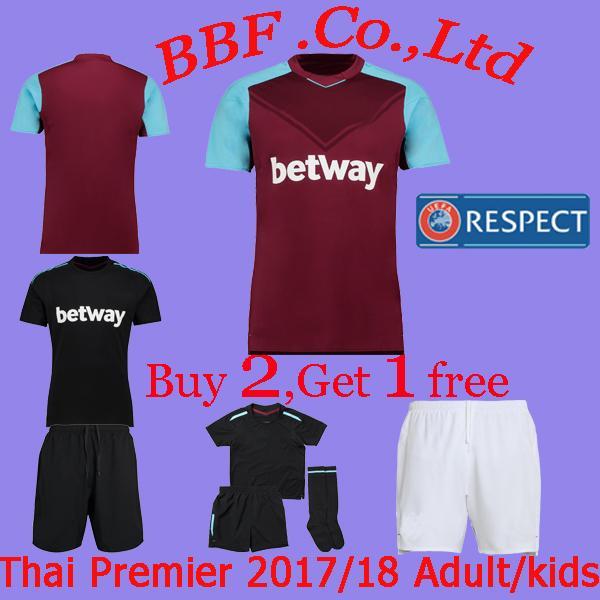 3e93d3f35b3 Thailand Quality 17 18 Premier League Soccer Jerseys Adult Kids Kit ...