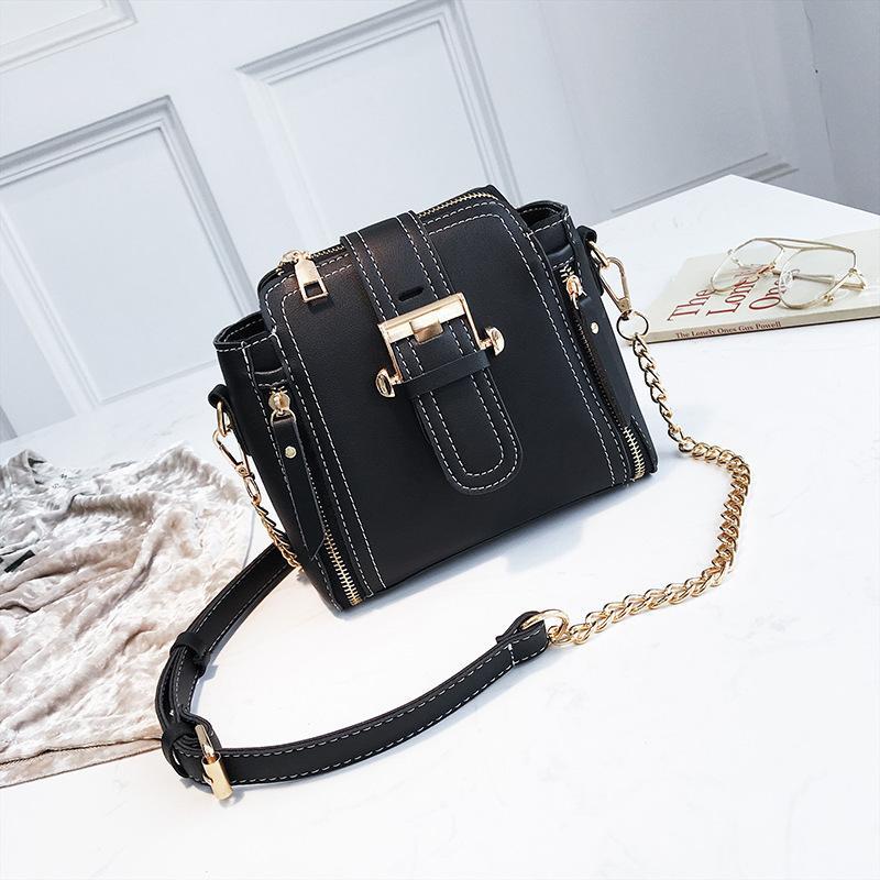 2019 Fashion Miyahouse Fashion Small Handbags Women Hit Color Messenger Bag  Korean Simple Chains Shoulder Bag Female Bucket Bags Leather Purse Womens  Purses ... f13bca6855bad