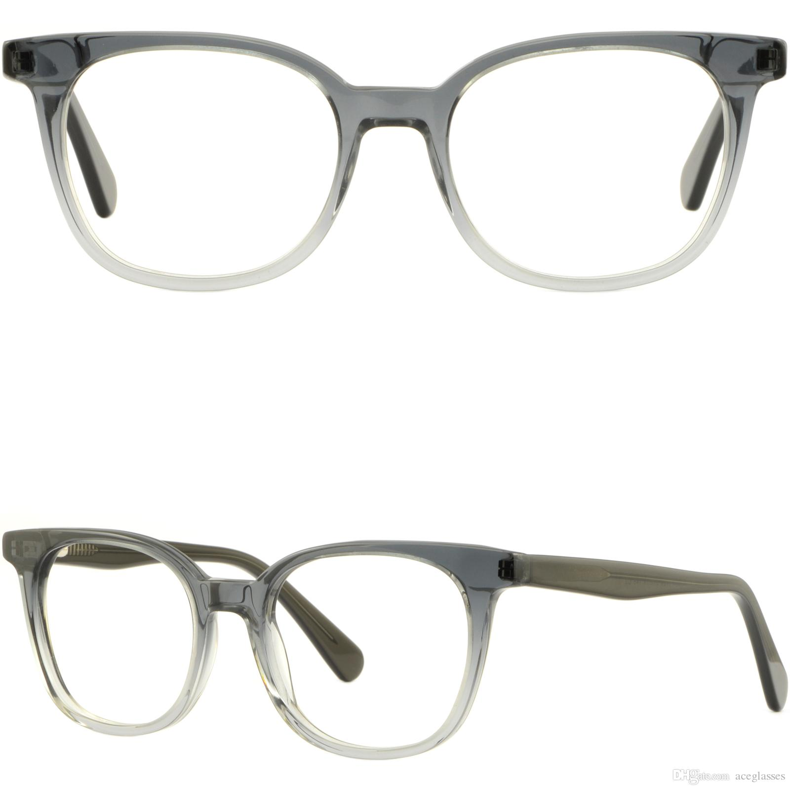 6f785cb51a2c4e Square Men Women Acetate Frame Prescription Glasses Eyeglasses Spring Hinge  Gray Hipster Glasses Frames Kids Glasses Frames From Aceglasses