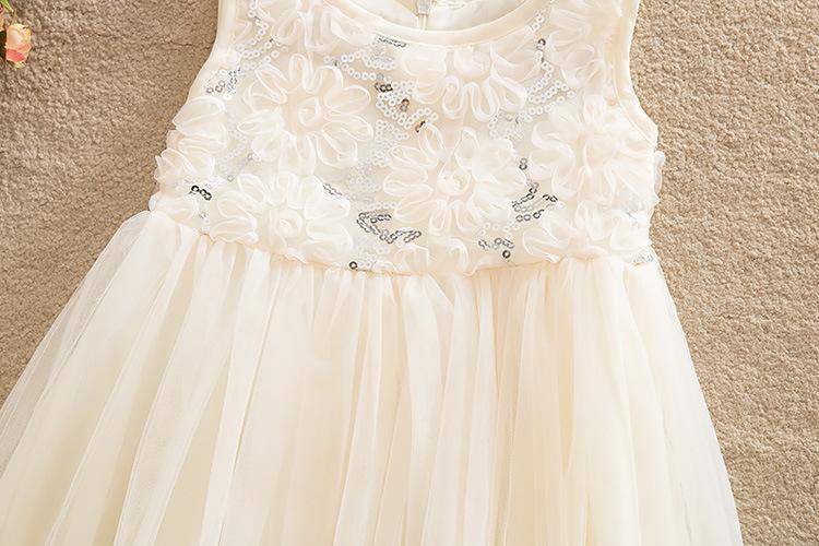 Блестками цветок выпускного вечера партии Принцесса бальное платье формальные мини-девушка платье новорожденных девочек Детские Pageant платья невесты одежда лето