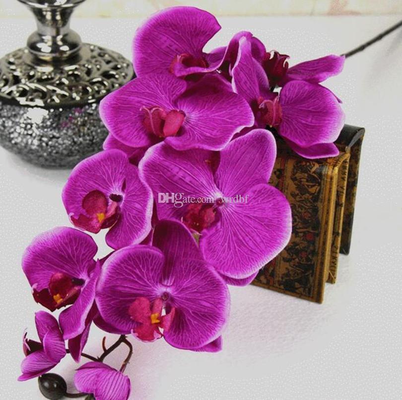하나 나방 난초 호 접 난초 큰 유화 효과 나비 난초 꽃 10 머리 / 조각 장식 인공 꽃