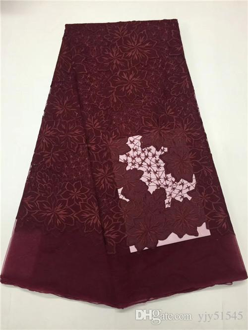 EPY1028 new arrival embroidered French lace fabric,good quality African tulle lace fabric for party & wedding dress!