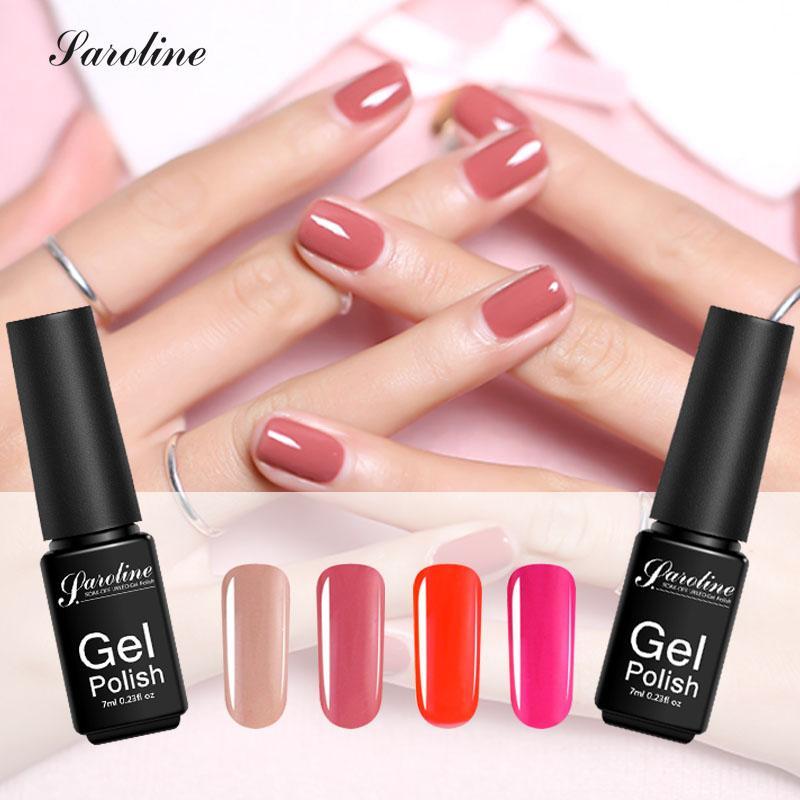 Saroline Nude Nail Polish Professional Color Nail Gel Polish Semi ...