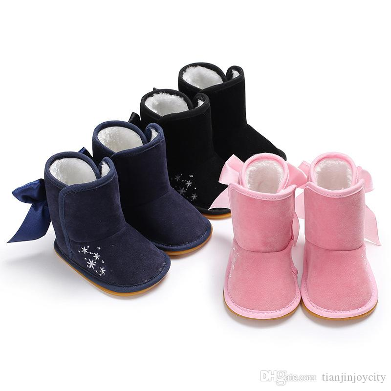 98ad8faf30c4 Children Boots Baby Shoes Kids Soft Rubber Sole Booties Winter Girl Boy Anti -slip Outdoor First Walker Toddler Infant Babe Shoes Online with  $16.0/Piece on ...