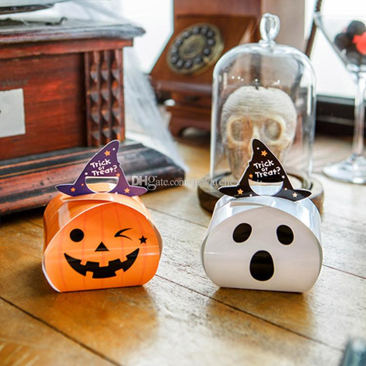 halloween treat boxes party candy box folding pumpkin ghost