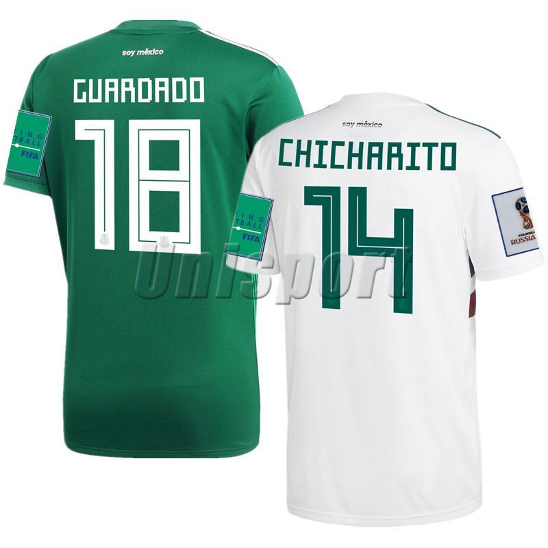 603d1a844 Compre Copa Do Mundo De 2018 México Casa Camisas De Futebol Chicharito  Carlos Vela Camisa De Futebol Futbol Camisa Camisetas Kit Maillot De  Unisport