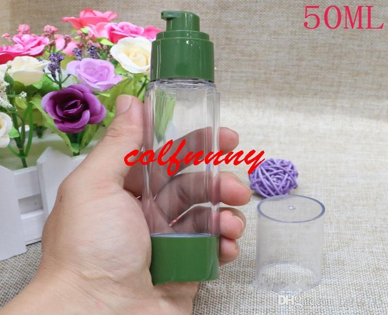 / 30ml bottiglia vuota ad alta pressione della boccetta di vuoto verde della bottiglia 50ml, nessuna pompa del profumo della bottiglia dell'emulsione dell'aria distributore di profumi