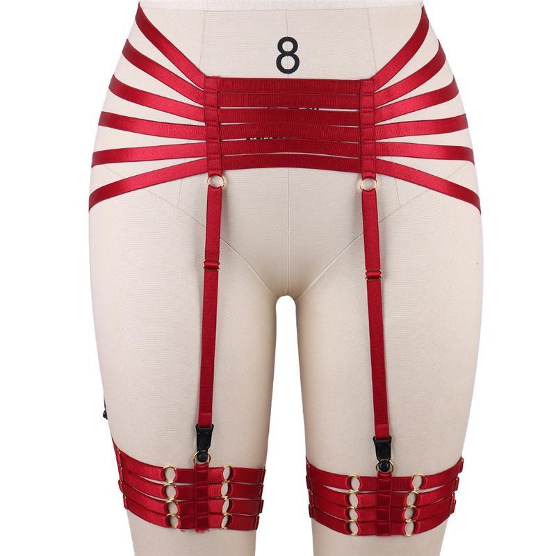 5c51cc1aa45 2019 Womens Fashion Sexy Garter Belt Stockings High Wais Bondage Body  Harness Belt Black Elastic Strappy Garter Burningman Rave Wear From  Yabsera