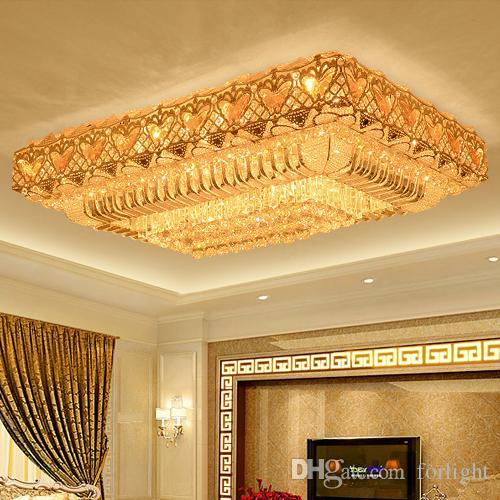 LED Crystal Chandeliers Modern Fancy Rectangle High Class K9 Crystal  Chandelier Hotel Lobby Villa Led Pendant Chandeliers With Free Bulbs  Pendant Chandelier ... 40c5a54a7a05