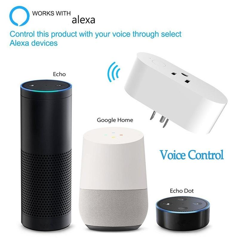 Mini Smart Plug Works With Alexa Echo Google Home And Ifttt Wifi