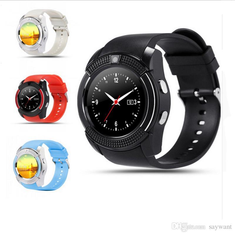 Adecuado Con Ios V8 Reloj Para Tarjeta Hd Pantalla Bluetooth Ips Tf Android Smartwatch Ranura Sim Watch Teléfono Círculo Smart Completa IWED29eHbY