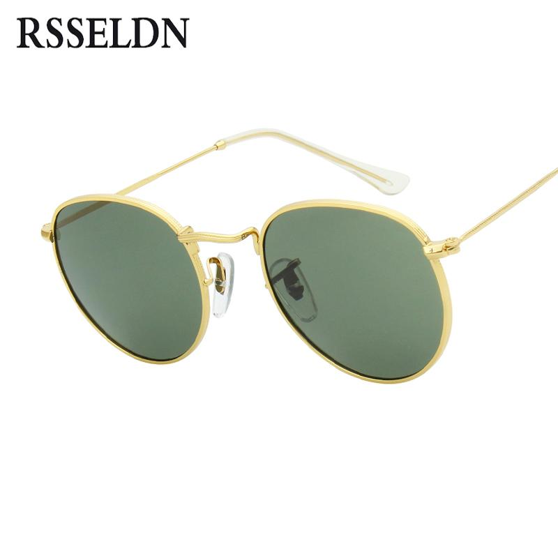 584e6a1b3f546 RSSELDN Retro Round Sunglasses Women Men Brand Designer Sun Glasses ...