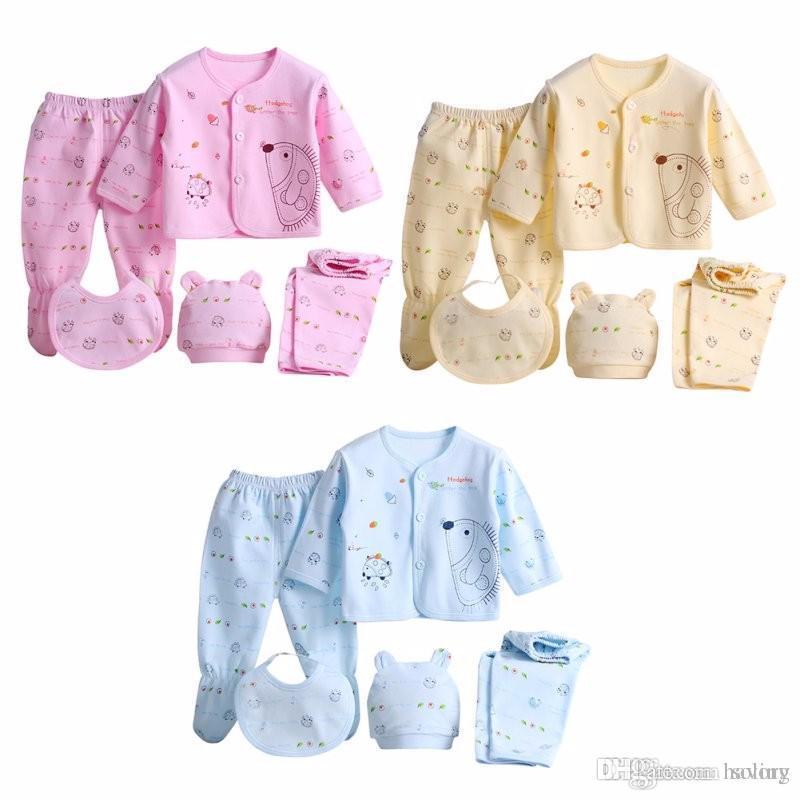 fe62a984 Compre 5 Unids / Set Bebé Recién Nacido 0 3 M Conjunto De Ropa De Marca Baby  Boy Girl Clothes 100% Ropa Interior De Algodón De Dibujos Animados A $20.08  Del ...