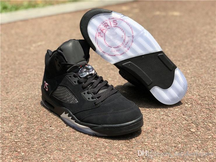 7805cf4d455fb8 With Original Box BEST QUALITY 2018 NEW Release Authentic 5 Paris 5s  Basketball Shoes For Man Black Suede Limited Sports Sneakers AV9175-001  Online with ...