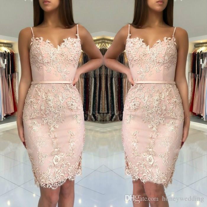 f2ec89a9cc Spaghetti Straps Sweetheart Short Prom Dress