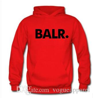 BALR Letters Printed Hoodies Mens Spring Autumn Fleece Pullovers Hooded Sweatshirts Sports Tracksuits Tops Long Sleeved