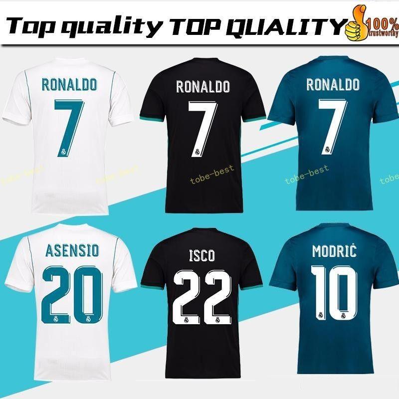 defd56d0c Thailand Camisa Champion League Real Madrid Jersey 2018 RONALDO ...