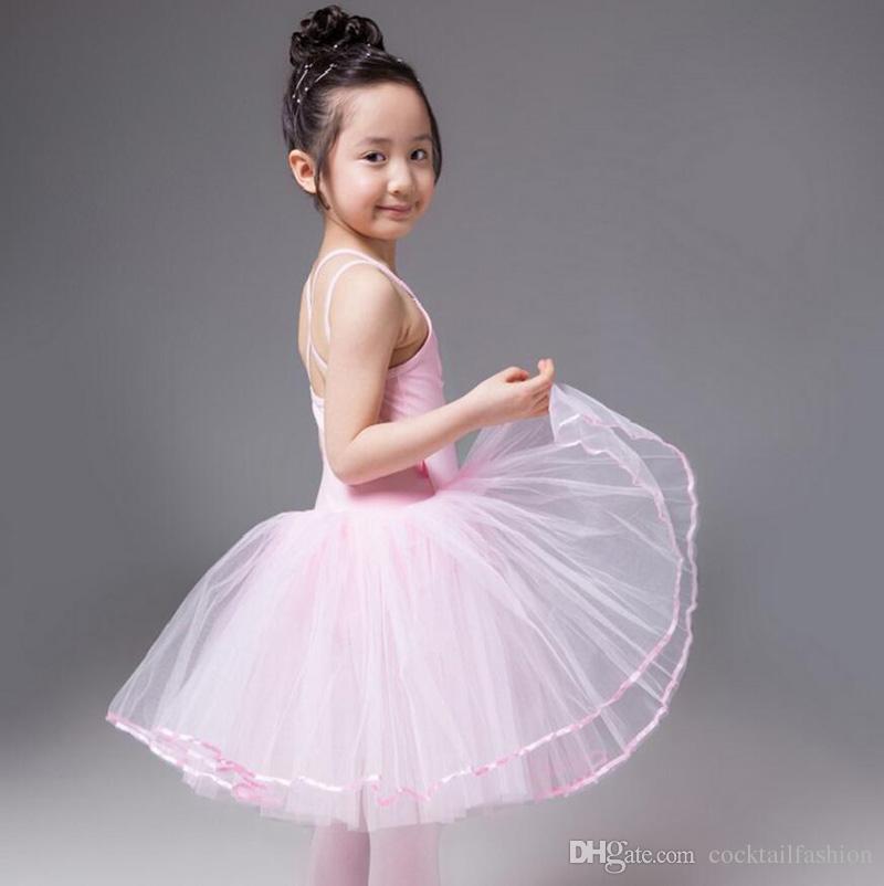 e8b36e869d Compre Ballet Dress Meninas Colete Collant Vestidos 3 16y Ballet Dança Saia  De Alta Qualidade De Algodão Crianças Ballet Tutu Traje De Dança De ...