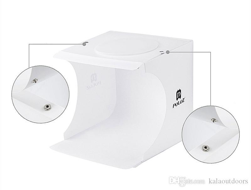 2018 뜨거운 판매 미니 사진 스튜디오 상자 사진 배경 작은 사진 상자 내장 작은 항목 사진 상자 스튜디오 액세서리