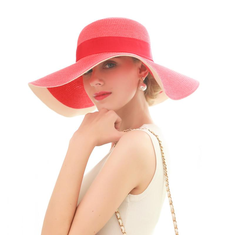 Fashion Seaside Sun Visor Hat Female Summer Sun Hats for Women Large  Brimmed Straw Sun Hat Folding Beach Girls Wholesale Online with  16.4 Piece  on ... 44b519f24771