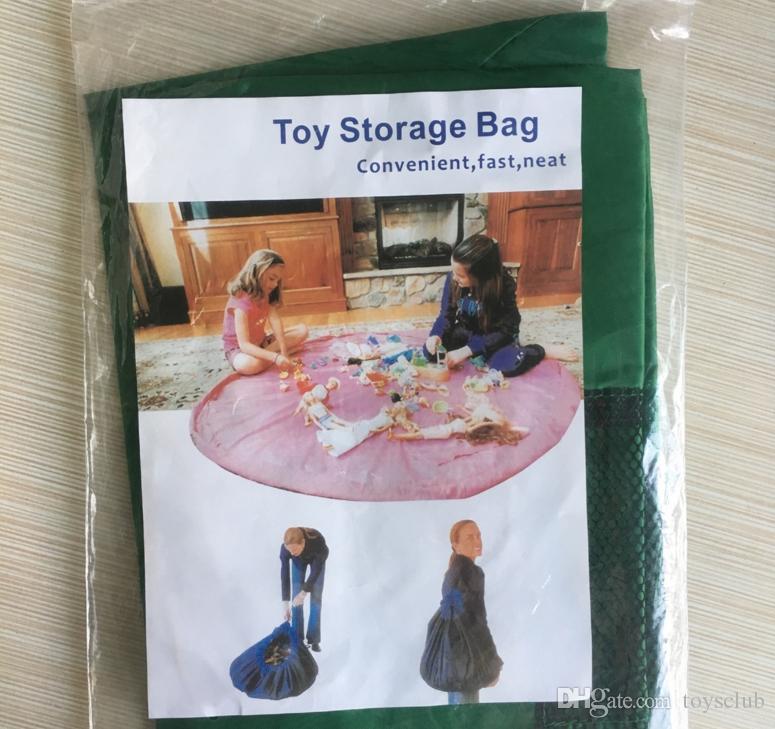 juego bolsa de almacenamiento de juguete Manta de almacenamiento de juguetes portátil bolsa de manta de diámetro Cajas Rug juega al organizador de picnic al aire libre 150cm