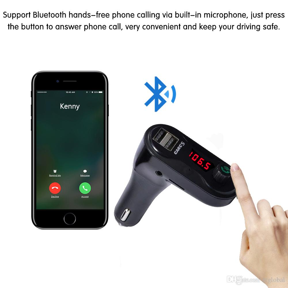 Bluetooth Car Kit FM Transmitter MP3 Player Modulator USB Autoladegerät Unterstützung TF Karte U Disk DC12V USB FM Transmitter