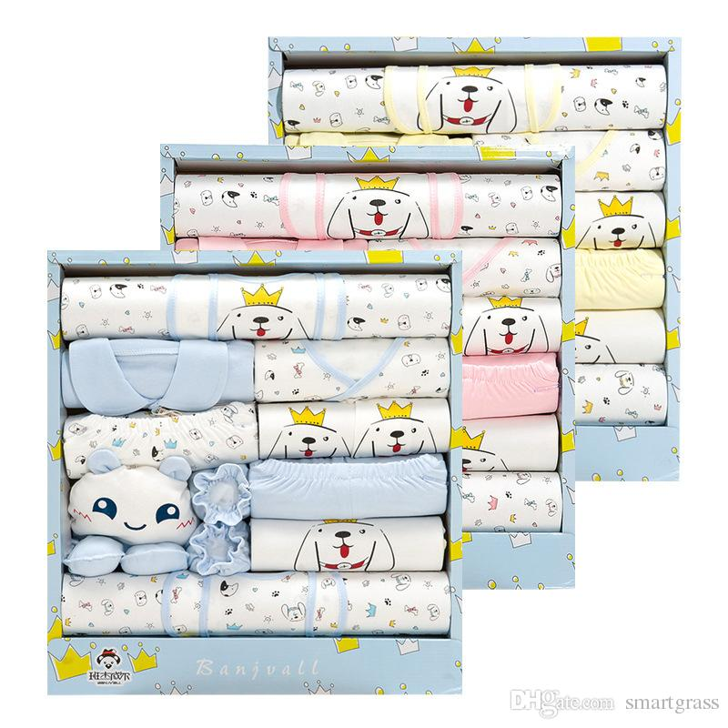Newborn Clothes Sets Cute Cotton Baby Clothes Best Baby Gift Sets 18020302 Drop Shipping