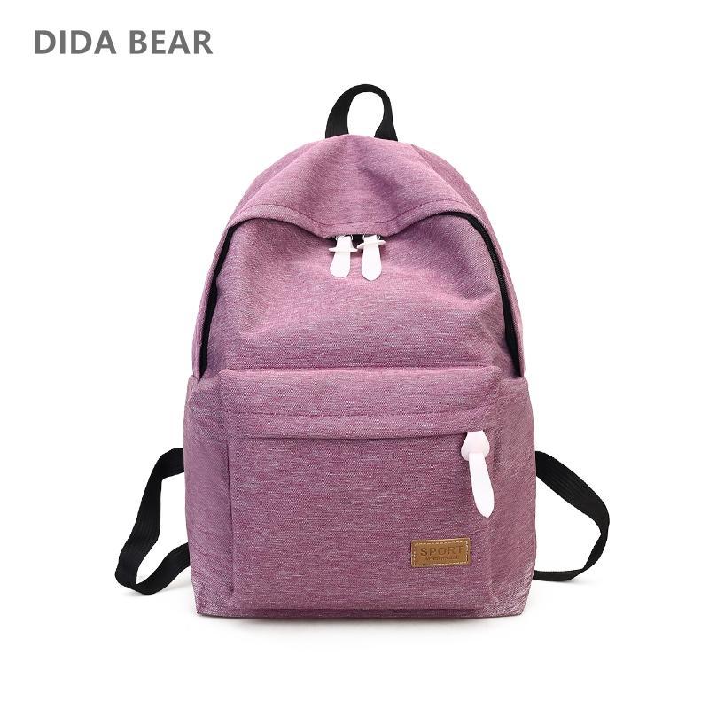 417f647108ed DIDA BEAR 2017 Women Canvas Backpacks Ladies Shoulder School Bag Rucksack  For Girls Travel Fashion Bag Bolsas Mochilas Sac A Dos Jansport Backpacks  School ...