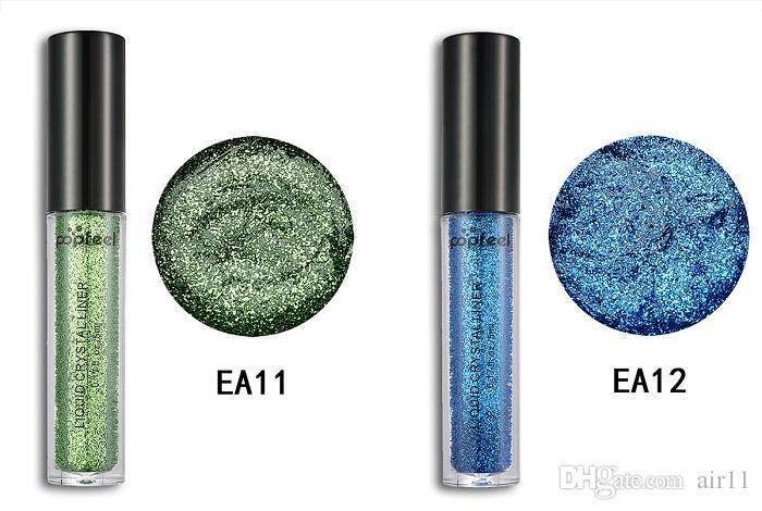 POPFEEL блеск тени для век порошок Жидкий Кристалл лайнер тени для век Stick Алмаз мерцание порошок 12 цветов макияж тени для век на складе