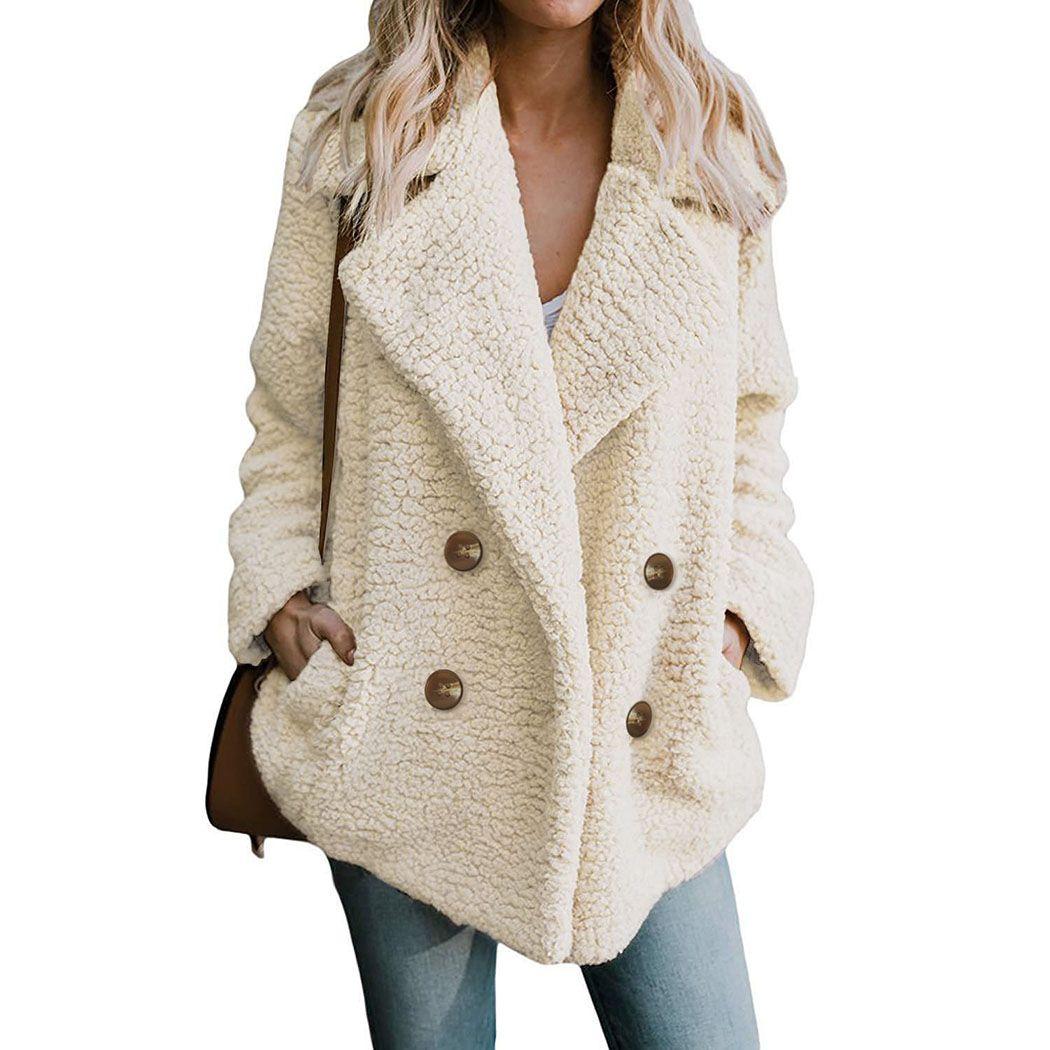 2018 Autumn Warm Faux Fur Coat Women 2018 Autumn Winter Warm Soft Button Fur  Jacket Female Plush Overcoat Casual Outerwear Online with  68.46 Piece on  ... 295c5175f981