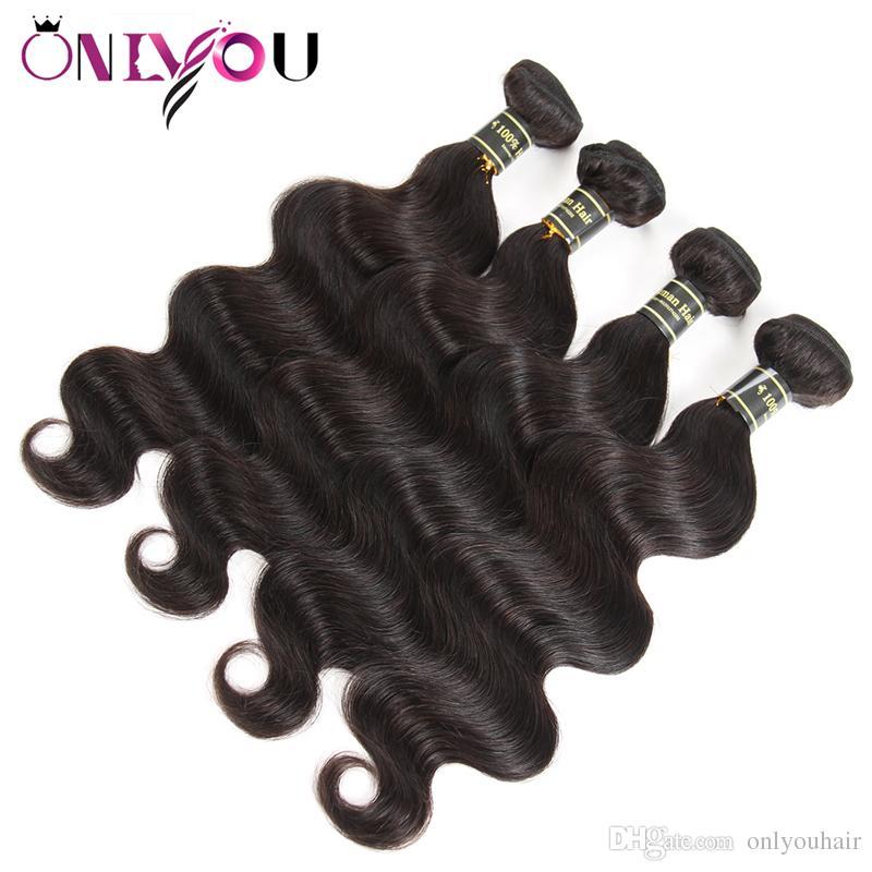 Hot Brésilienne Body Wave Vierge Cheveux Bundle Offres Remy Extensions de Cheveux Humains 4/5/6 Mix Ordre Corps Armure Humaine Weave Bundles