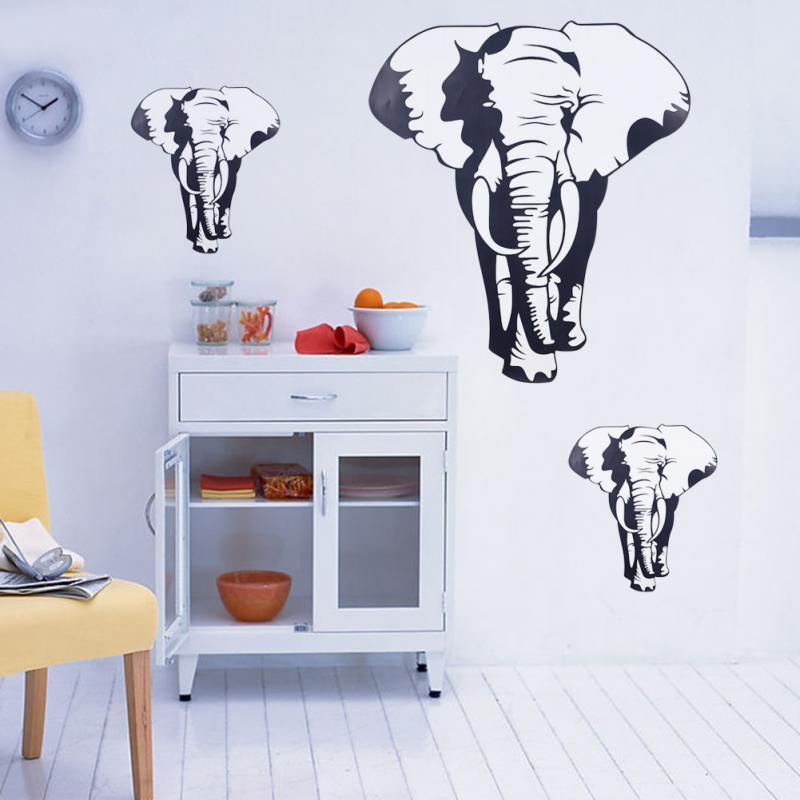 wall decor wild animals elephant decal removable art wall sticker