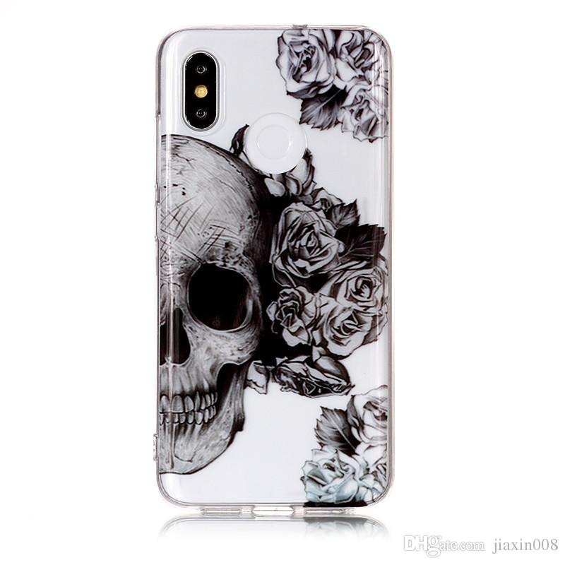 Soft TPU Cover For Xiaomi Mi 8 Mi8 Case High transparent Cherry Blossom series design Silicone Mobile Phone Cases Covers