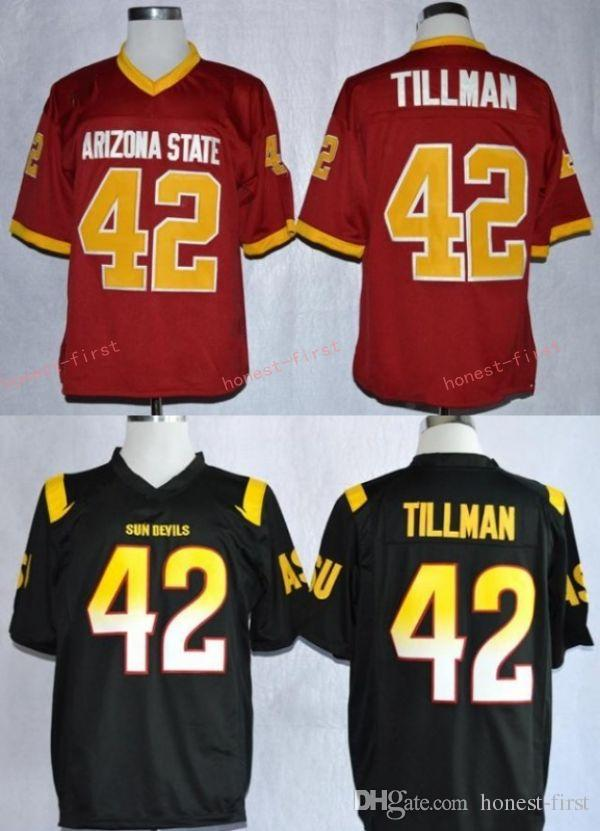Acheter 1997 Rose Bowl Arizona State Sun Devis ASU Pat Tillman 42 Maillots  De Football Universitaire Maroon Stitched Shirts Hommes De  16.26 Du Honest  First ... 7fa50d4ef