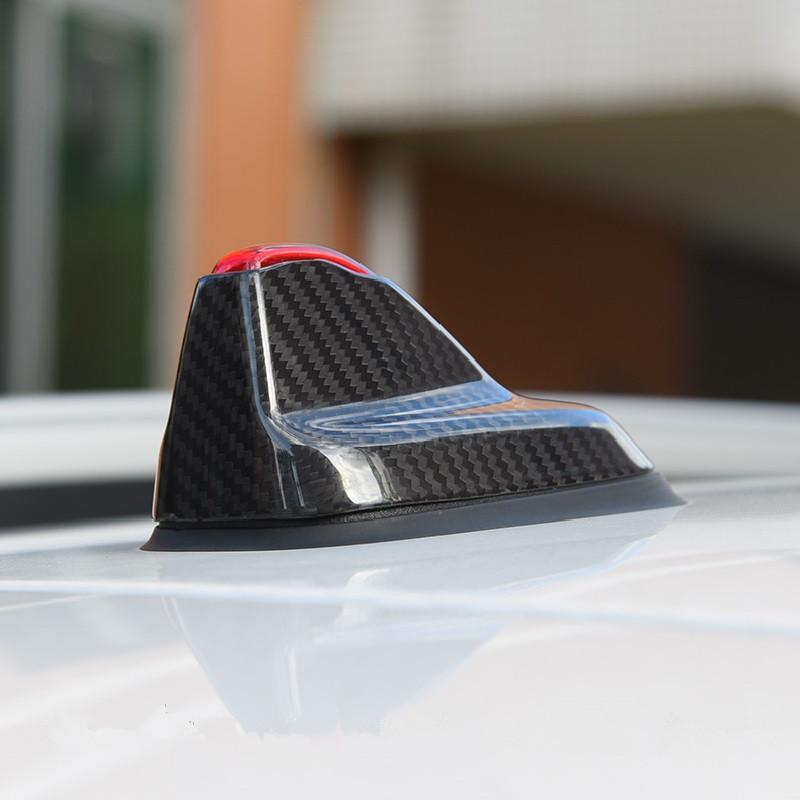 Antenne De Voiture En Fibre De Carbone Real Cover Case Radio Antenne Logement Autocollant Pour Mini Cooper F54 F60 Nouveau Clubman Countryman