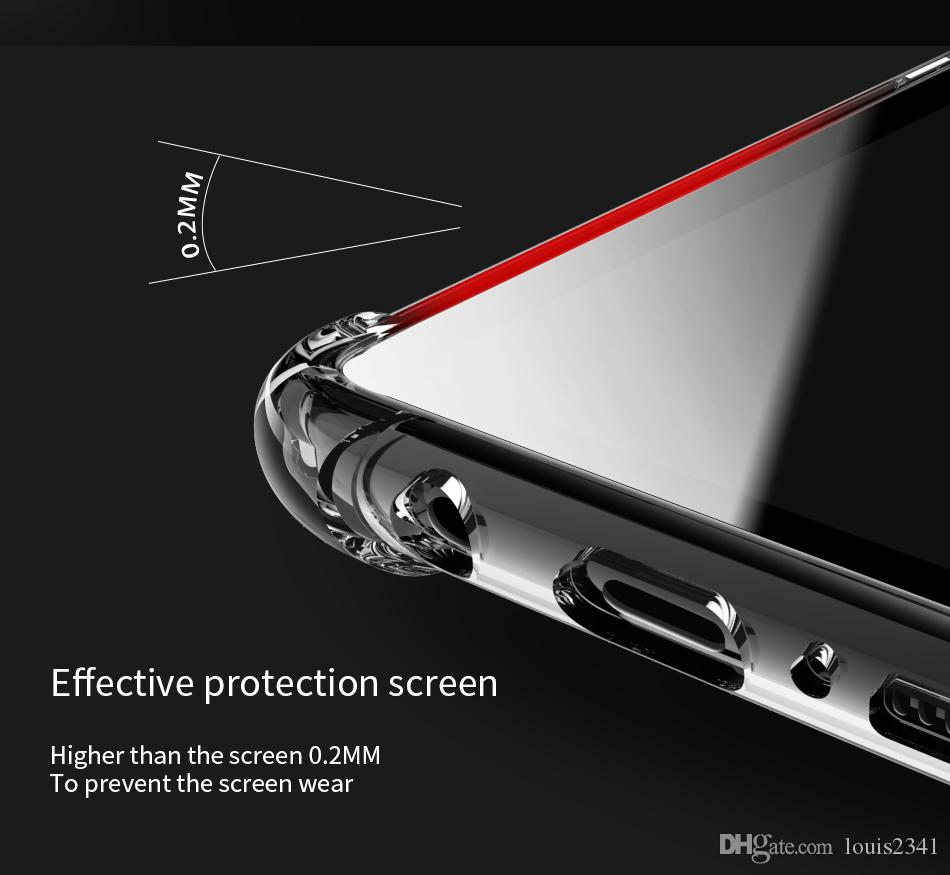 Clear Transparent Soft TPU shockproof case for samsung galaxy s10 s8 s9 plus note8 note9 Rubber Phone Case for iphone XS MAX XR X 6 7 8 plus