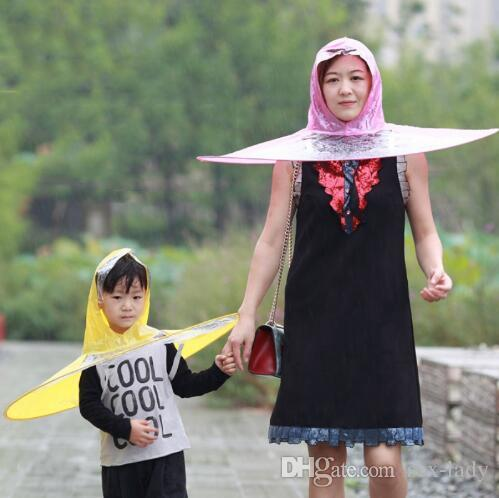 83763982694f1 Creative Umbrella Raincoat Outdoor Fishing Golf Child Adult Cover  Transparent Umbrellas Rain Coat Raincoat Umbrella Headwear Hat Cap S M L  Rain Coats Kids ...