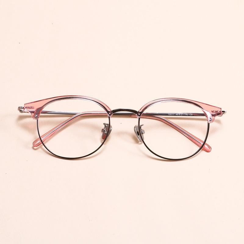 22b12ff03c Compre EOOUOOE 2018 Mujeres Redondas Gafas Retro Marco CAFÉ Gafas De Gafas  De Metal Transparentes Oculos Hombre Gafas Gafas Ópticas A $25.62 Del  Junemay ...