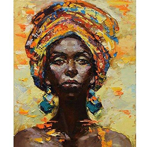 Le célèbre Acheter Handmade Modern Abstrait Femme Africaine Portrait Couteau @AB_92