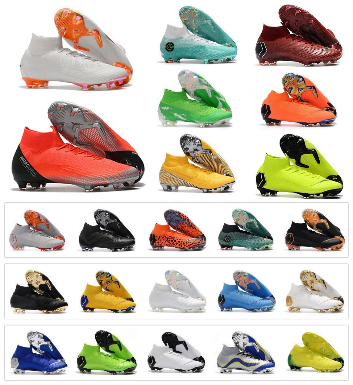 Hot Mercurial Superfly VI 360 Elite FG KJ 6 XII 12 CR7 Ronaldo Neymar Mens Women  Boys High Soccer Shoes Football Boots Cleats Size 35 45 UK 2019 From ... 0c847bc8f