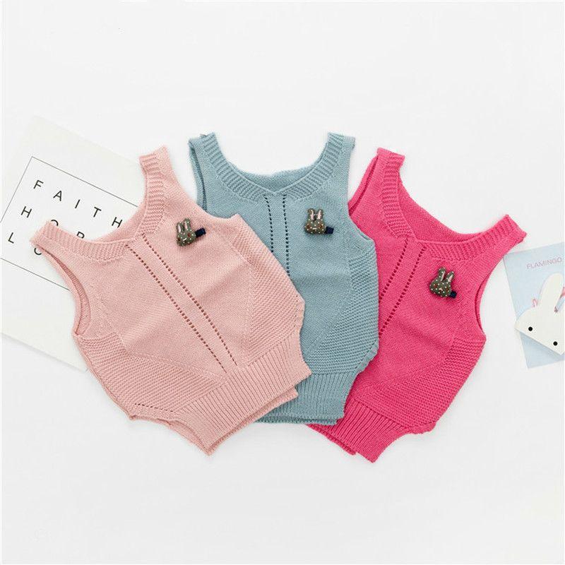 287788c5c3bd 2018 Winter Autumn Baby Girls Cute Rabbit Sleeveless Vest Irregula ...